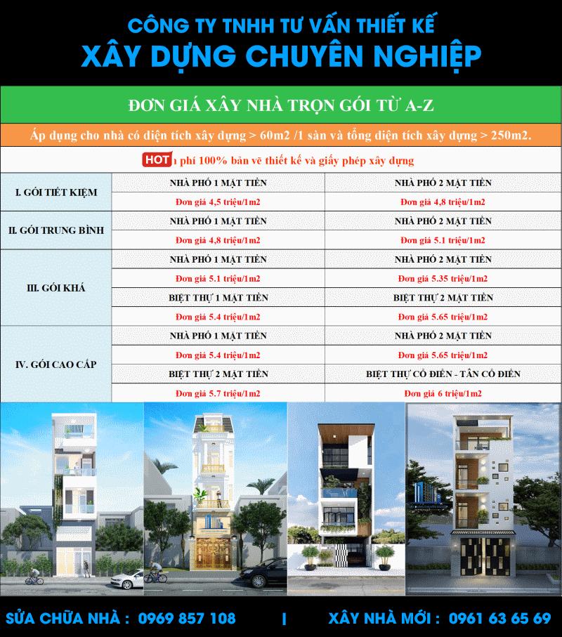 báo báo giá xây nhà trọn gói tphcm, dịch vụ sửa nhà uy tín chất lượng