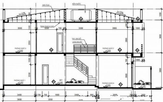 bản vẽ nhà 2 tầng P5