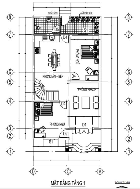 bản vẽ nhà 2 tầng P2